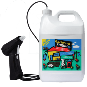 Backyardfresh with sprayer