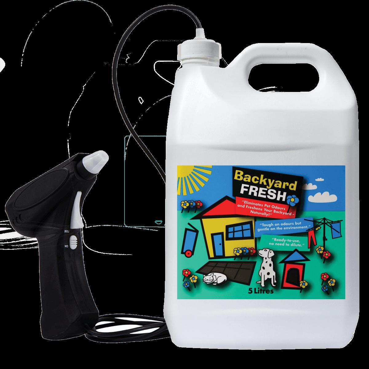 Backyardfresh with sprayer